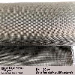 - Bazalt Fiber Kumaş 200gr/m2 Plain