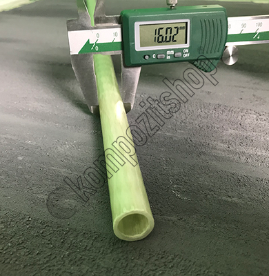 Cam Fiber Boru Pro Dış/İç Çap: 16mm/12mm