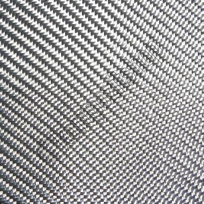 Dekoratif Cam Elyaf Kumaş 290 gr/m2 twill Gümüş