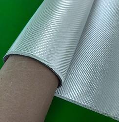 Dekoratif Cam Elyaf Kumaş 290 gr/m2 twill Gümüş  - Thumbnail