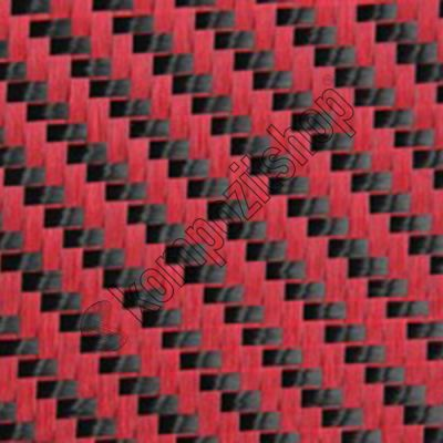 Dekoratif Karbon Fiber Kumaş Kırmızı/Siyah 210gr/m2 twill-