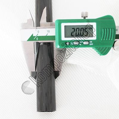 PROTUBE-CARBON - Karbon Fiber Boru Pro Dış/İç Çap:20mm/17mm