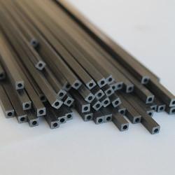 EKOTUBE-CARBON - Karbon Fiber Kare Boru Profil Dış/İç 4mm/2.5mm