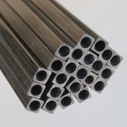 EKOTUBE-CARBON - Karbon Fiber Kare Boru Profil Dış/İç 8mm/5.8mm