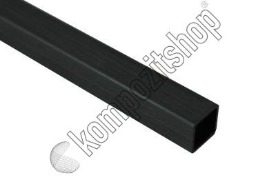 EKOTUBE-CARBON - Karbon Fiber Kare Profil Dış/İç 8mm/7mm