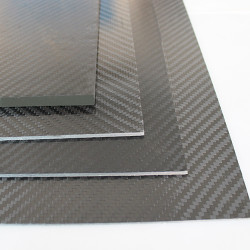 EKOPLATE-CARBON - Karbon Fiber Plaka T:2,5mm 48cmX48cm