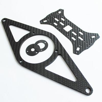 - Karbon Fiber Plaka T:2mm CNC Kesimli