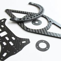 - Karbon Fiber Plaka T:3mm CNC Kesimli