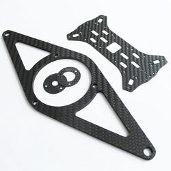 Karbon Fiber Plaka T:3mm CNC Kesimli - Thumbnail